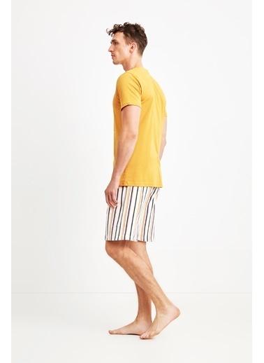 Nautica Pijama Takım Hardal